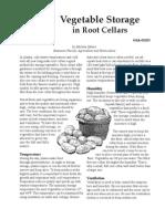 Vegetable Storage in Root Cellars
