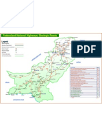 Map of Pakistan Highway