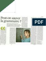 Peut on Sauver La Grammaire Telerama