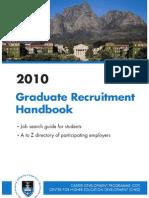 1. UCT Graduate Recruitment Handbook 2010 - Text Section