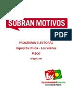 Programa Izquierda Unida - Los Verdes (Meco 2011)