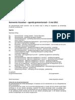 110505 agenda gemeenteraad Vosselaar