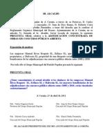 Intervención PP oral Operación Dedazo