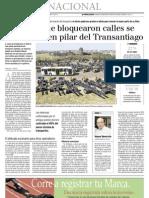 8 20  La Tercera - Micreros que bloquearon Santiago se convierten en pilar