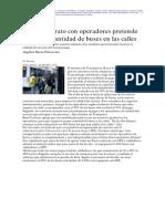 8.22 La Tercera - Nuevo Contrato Con Operadores Pretende Aumentar Cantidad de Buses en Las Call