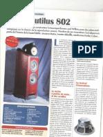 B&W802 Nautilus - Nouvelle Revue Du Son