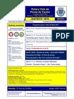 ROTARY Programa Maio 11