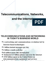 TELECOMMUNICATIONS AND NETWORKING IN TODAY'S BUSINESS WORLD