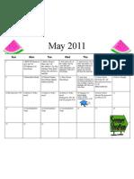 Shortcut to May 11 Calendar Menu