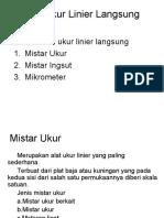 Alat Ukur Linier Langsung