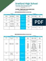 Exam Timetable 2011