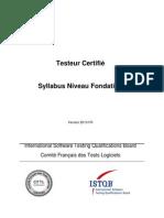 ISTQB CTFL Syllabus French v2010