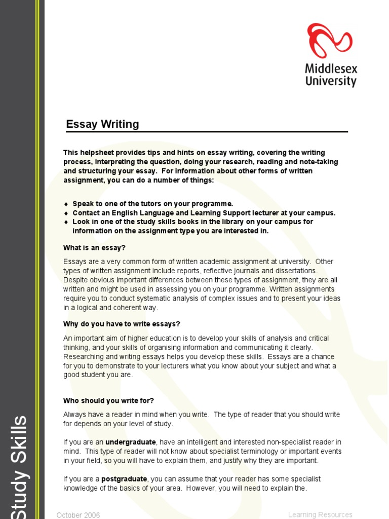 English Essay Ideas  Thesis In Essay also Compare And Contrast Essay Examples For High School Essay Writing  Study Skills  Essays Is Psychology A Science Essay