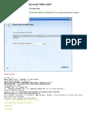 Product Key Pentru Microsoft Office 2007