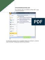 Manual Activar Macros Excel 2007-2003