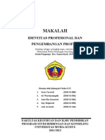 MAKALAH Identitas Profesional Dan an Profesi