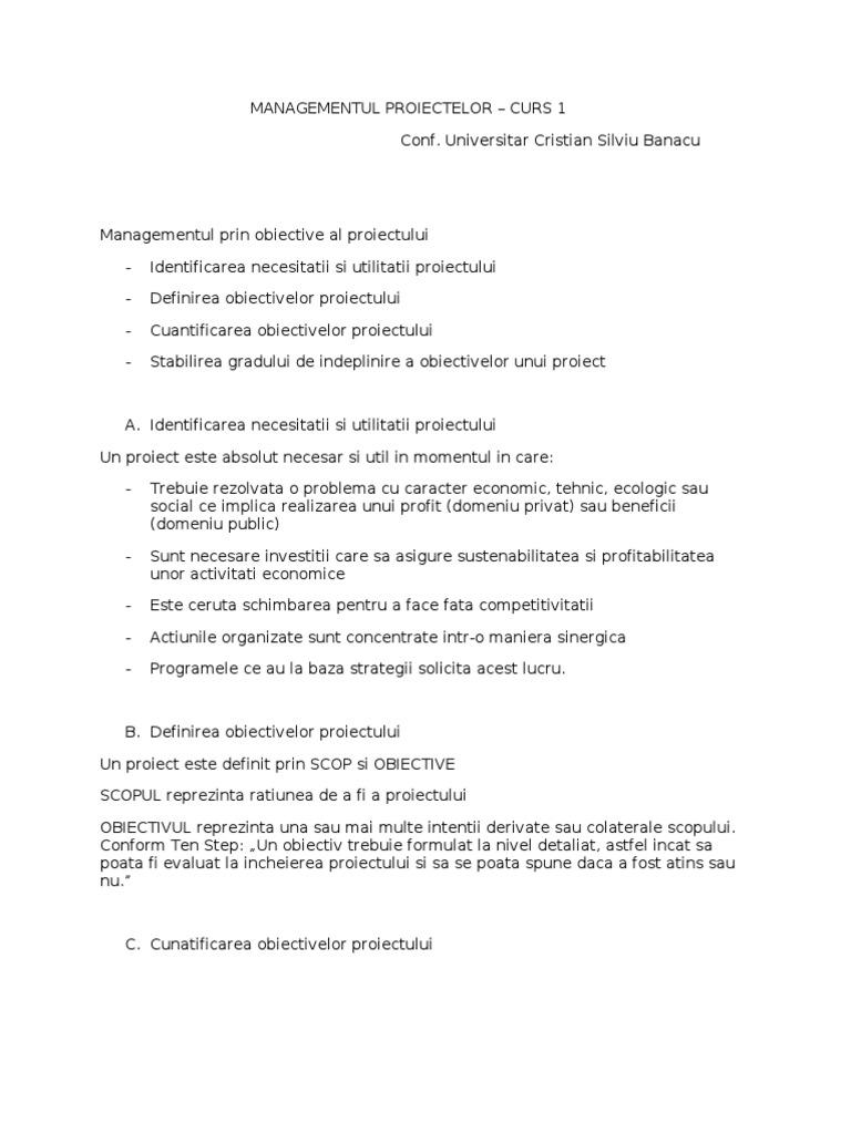 evaluarea opțiunilor reale în managementul de proiect