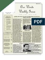 Newsletter Volume 3 Issue 18