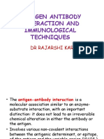 Antigen Antibody Interaction and Immunological Techniques