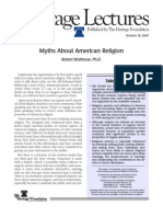 Myths About American Religion