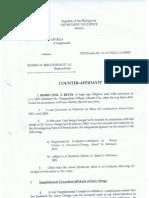 Counter-Affidavit Mario Joel Reyes aka JTR
