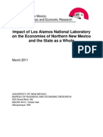 Impact of LANL on the Economies of Northern New Mexico and the State as a Whole