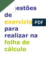 Exercícios em Excel