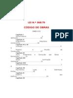CÓDIGO DE OBRAS LEI 368