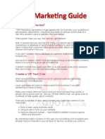 Quick SMS Marketing Guide