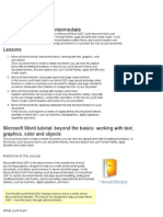 Notes for MSWord 2007 Intermed