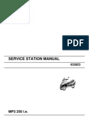 MP3 250 Workshop Manual | Motor Oil | Transmission (Mechanics)