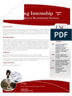 Recruiting Intern - Job Announcement - USC Employee Recruitment Services - Summer 2011