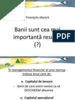 Finantele afacerii