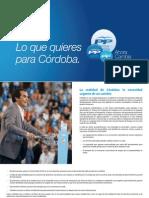 Lo que quieres para Córdoba - Programa de gobierno del Partido Popular
