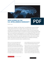 Data Science in the U.S. Intelligence Community