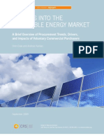 Insights Into the Renewable Energy Market