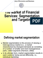 The Market of Financing Service