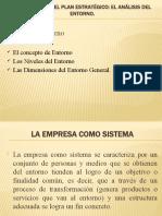 Formulación del plan estratégico El entorno General