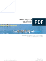 Summary - Measuring the Performance of Government Departments