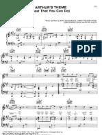 Arthurs Theme Sheet Music