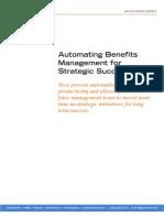 Automating HR Benefits Management Strategic Success