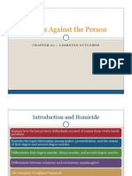 Chapter 09 Crimes Against the Person - Learning Outcomes