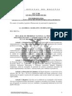 Ley 098 Declarar Prioridad Nacional La Produccion Industralizacion y Comercializacion de La Quinua