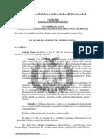 Ley 099 Modificacion de la Ley 2904 referida al Desarrollo de los Ayllus Pacificados