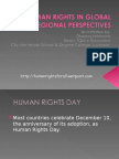 HUMAN RIGHTS IN GLOBAL AND REGIONAL PERSPECTIVES