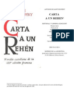 Saint Exupery - Carta a Un Rehen