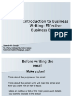 Business Email Writing