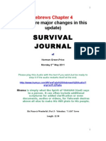 Survival Journal Hebrews Chapter 4 2.5