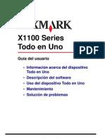 Lexmark X1100 Series User's Guide