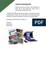 FUENTES DE INFORMACIÓN bibliograficas iconograficas electronicas hemexograficas
